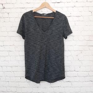 Lululemon What the Sport Tee Shirt Gray Black
